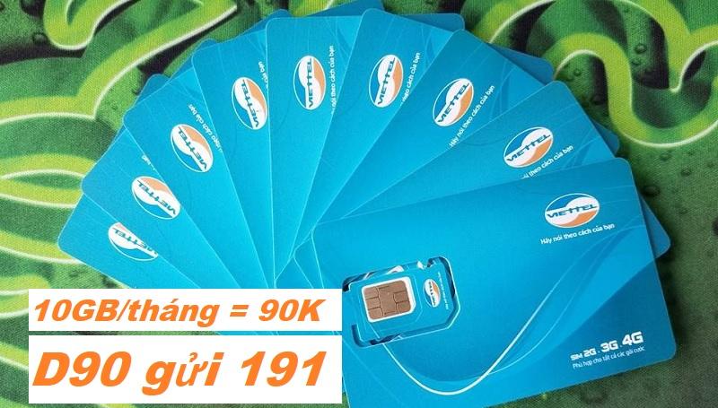 Viettel tung gói Data 10GB chỉ 90k/tháng - Hết 10GB, hạ băng thông 128Kbps